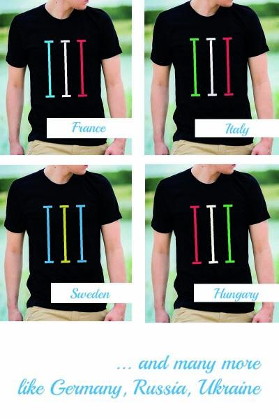 bahnen - nations edition | T-Shirt mit Bahnen in Länderfarbe