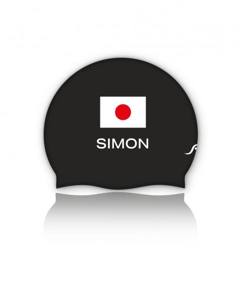 Japan Badekappe | Optional mit deinem Namen