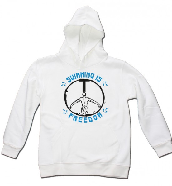 Kids Hoodie: Swimming is Freedom