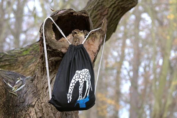 Stoffbag mit Longo, der Schwimm-Giraffe