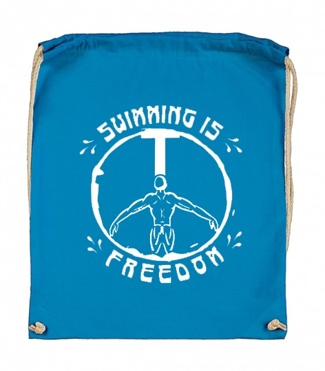 "Stoffbeutel ""Swimming is freedom"""