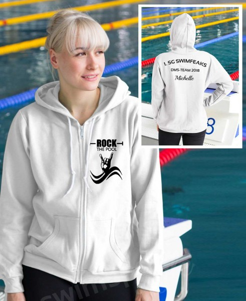 Rock the Pool | Sportjacke mit Team-Aufdruck