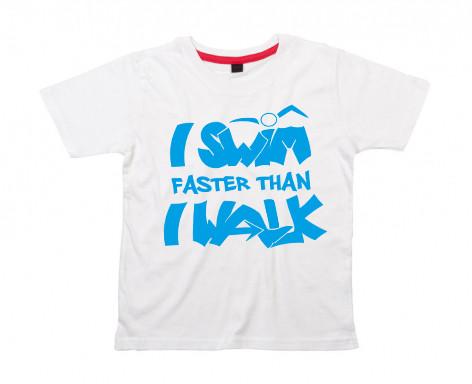 Kids Shirt: I swim faster than I walk
