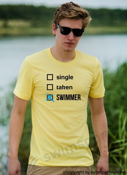 single taken swimmer