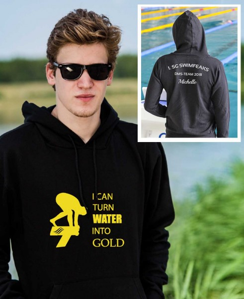Turn Water into Gold | Hoodie mit Team-Aufdruck