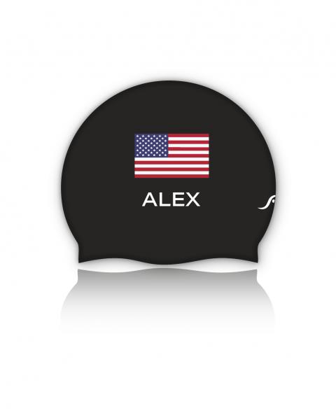 USA Badekappe | Optional mit deinem Namen