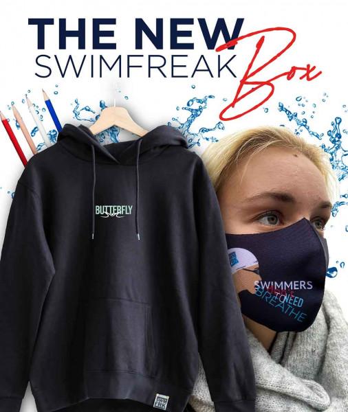Die swimfreak-Box 12 | Mit Schwimm-Stil Hoodie | AUSVERKAUFT