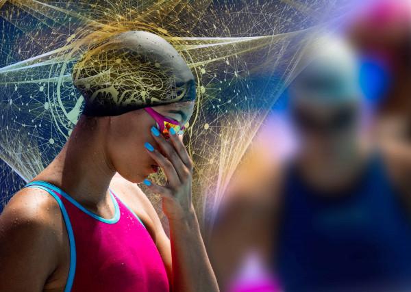 """Stylisches Schwimm-Poster   """"Mental Power"""""""