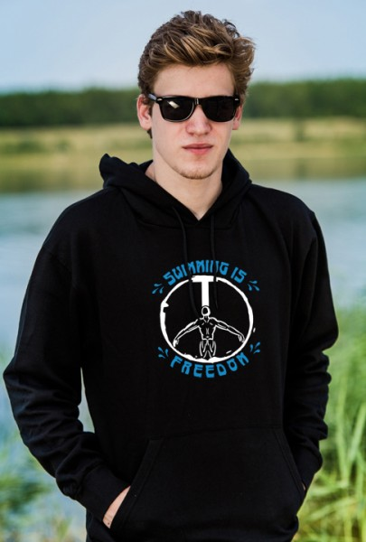Swimming Is Freedom - Herren Pullover