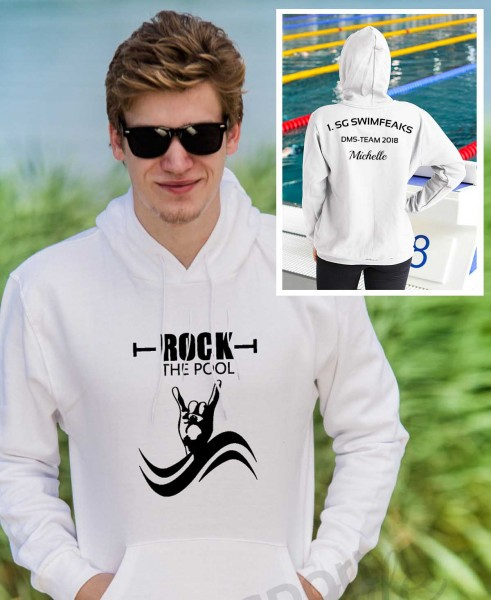 Rock The Pool | Hoodie mit Team-Aufdruck
