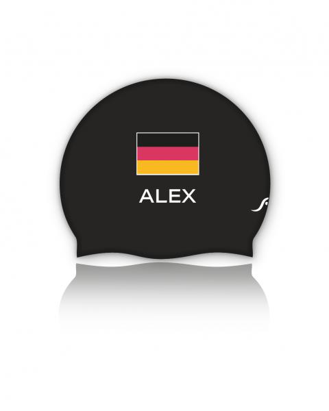 Deutschland Badekappe | Optional mit deinem Namen