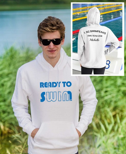 ready to swim | Hoodie mit Team-Aufdruck