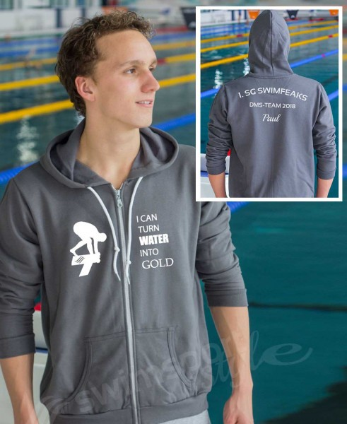 Turn Water Into Gold | Sportjacke mit Team-Aufdruck