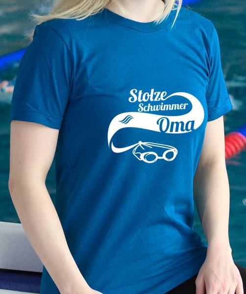 T-Shirt: Stolze Schwimmer Oma