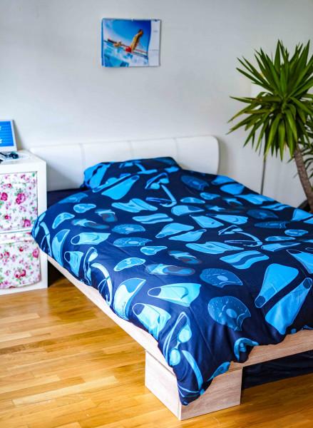 Swimfreaks Bettwäsche | Set aus Bettdecken- und Kopfkissenbezug