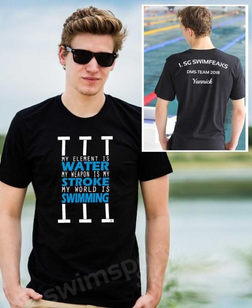 Water Stroke Swimming | Shirts mit Team-Aufdruck