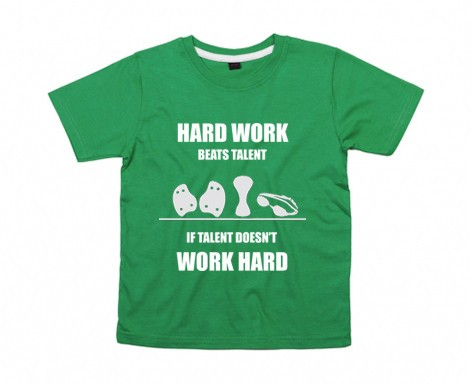 Kids-Shirt: Hard work beats talent