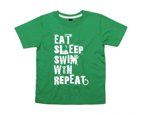 Kids-Shirt: Eat Sleep Swim