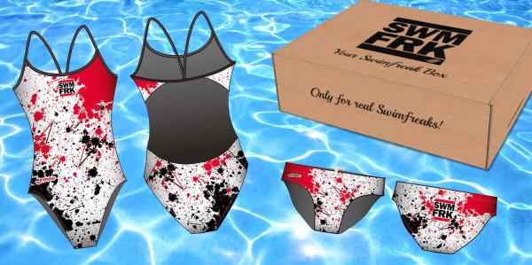 Die swimfreak-Box   Mit Schwimmanzug oder -hose im swimfreak Design   Jetzt anmelden