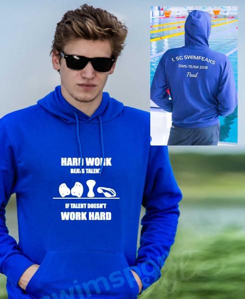 Hard Work Beats Talent | Hoodie mit Team-Aufdruck